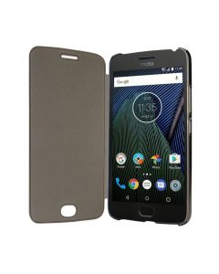 Lenovo Moto G5 Plus Touch Flip Cover (Gray)