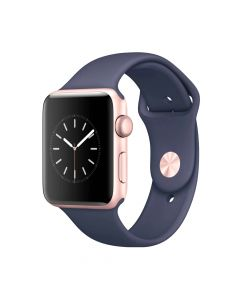 Apple Watch Series 1 42mm Rose Gold Aluminum Case (Midnight Blue Sport Band)