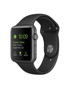 Apple Watch Series 2 42mm Space Gray Aluminum Case (Black Sport Band)