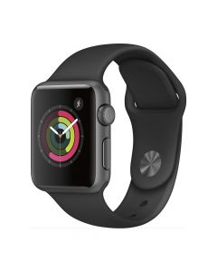 Apple Watch Series 2 38mm Space Gray Aluminum Case (Black Sport Band)