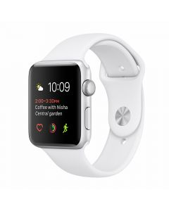 Apple Watch Series 2 42mm Silver Aluminum Case (White Sport Band)