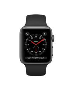 Apple Watch Series 3 38mm Space Gray Aluminium Case GPS (Black Sport Band)